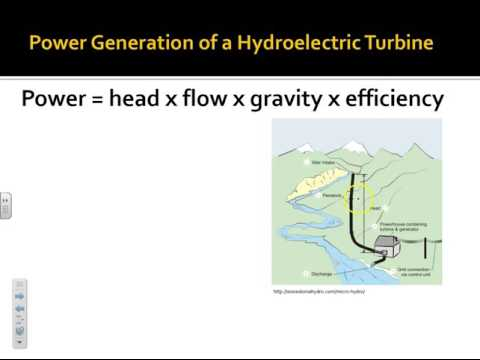NRG 154 - hydroelectricity power and energy calculations