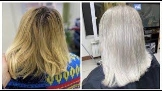 Бежевый блондин с глубоким корнем Осветление волос пастой Beige blond Hair lightening with paste