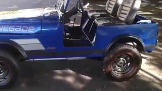 Handmade Mini Jeep CJ7 3/4 Scale Go Kart