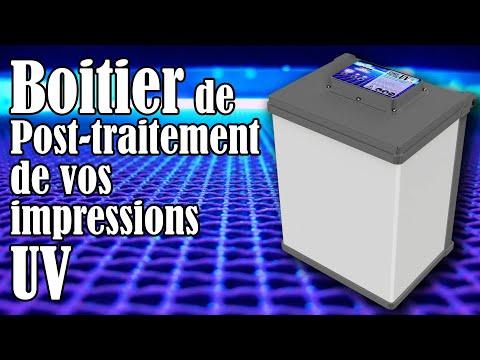 Boitier de post-traitement des impressions Résine UV