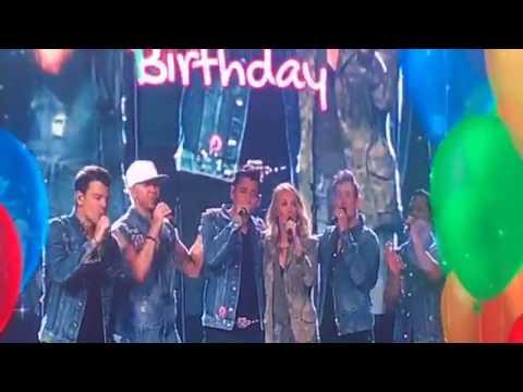 new kids on the block happy birthday Carrie Underwood sings