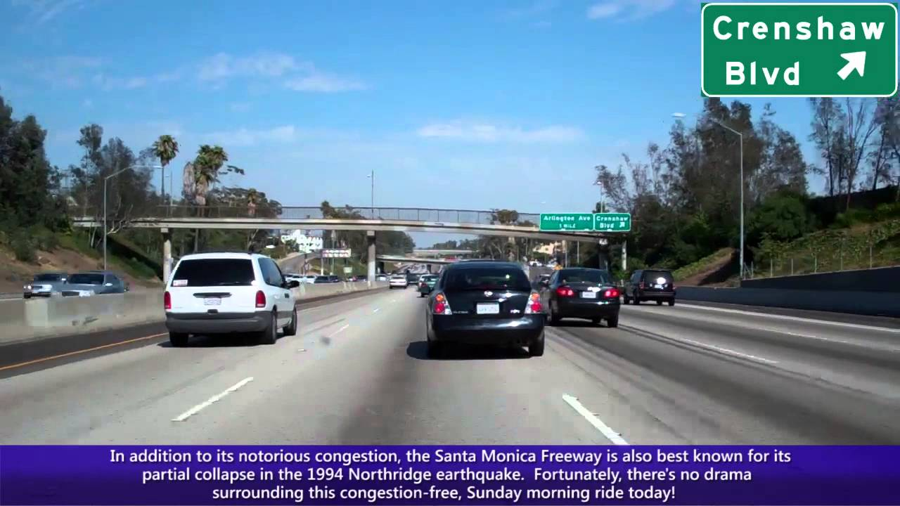 I 10 east ca santa monica freeway in los angeles i 405 to i 10 east ca santa monica freeway in los angeles i 405 to downtown los angeles youtube sciox Choice Image