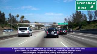 I-10 East (CA), Santa Monica Freeway in Los Angeles, I-405 To Downtown Los Angeles