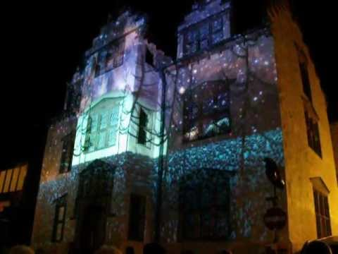 Plas Mawr Light Show, Conwy Food Festival Oct 2012