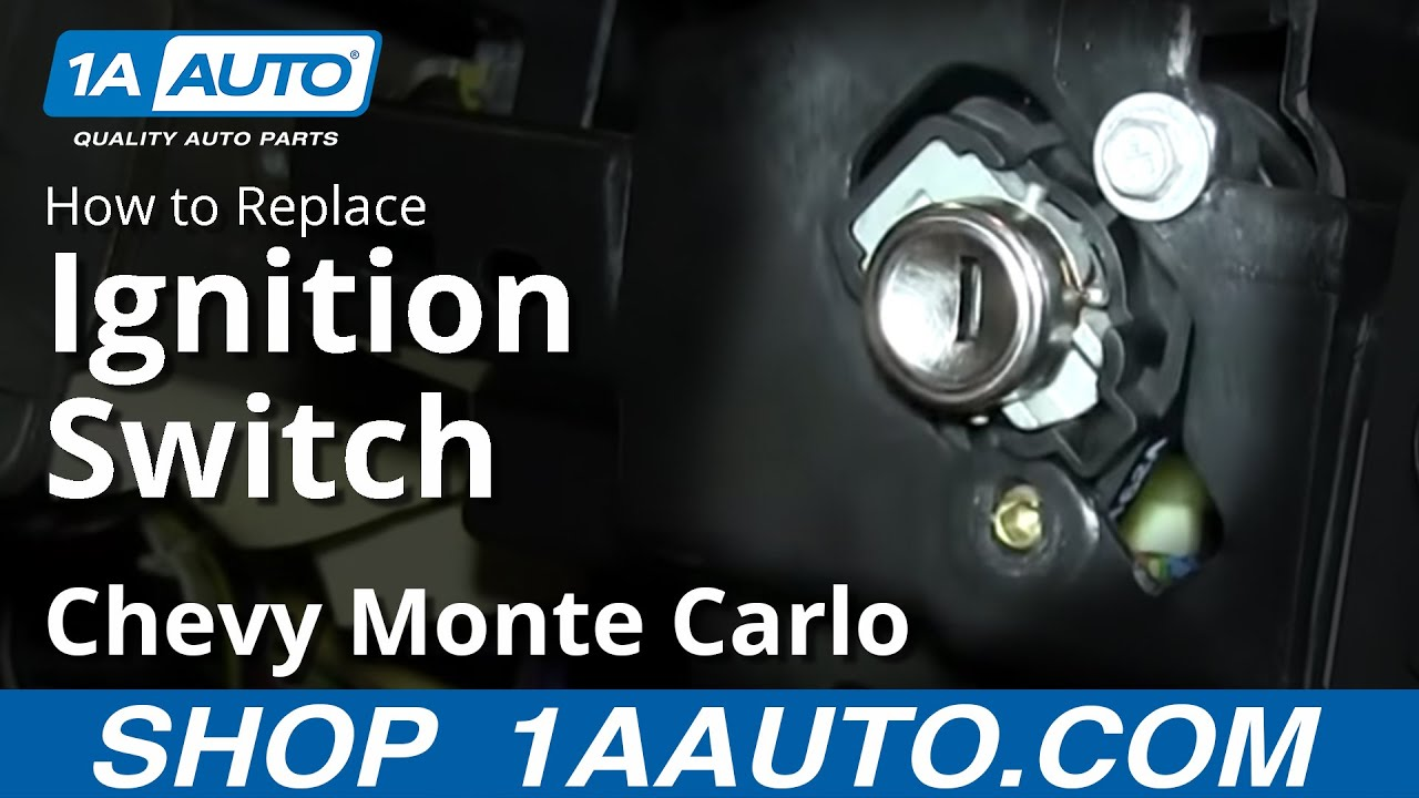 how to replace install ignition switch 2000 05 chevy monte carlo youtube [ 1920 x 1080 Pixel ]