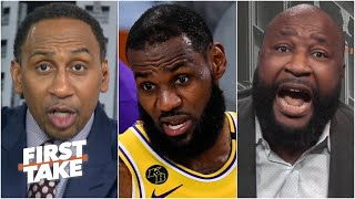 Stephen A. slams Marcus Spears' Patrick Mahomes-LeBron analogy | First Take