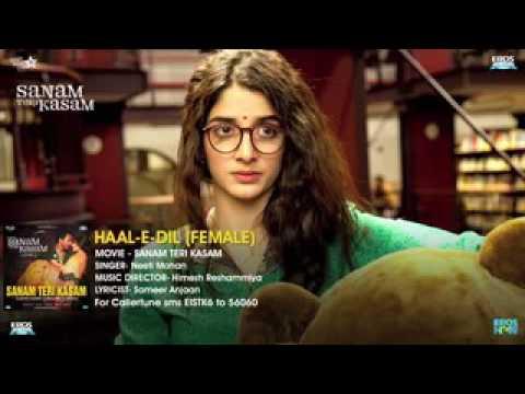 Haal E Dil Female Version   Full Audio Song   Sanam Teri Kasam   Harshvard