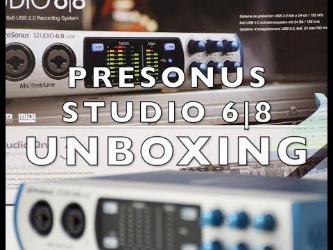 PRESONUS STUDIO 6|8 AUDIO INTERFACE!!! UNBOXING + OVERVIEW