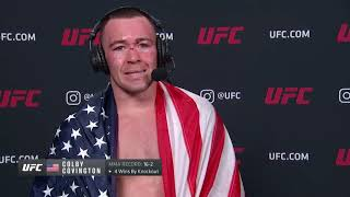 UFC Vegas 11: Colby Covington Interview after TKO win