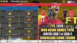 Cara Download Game FTS 2019 Mod Gojek Liga 1, Liga 2 & Asian Games 2018 Di Android