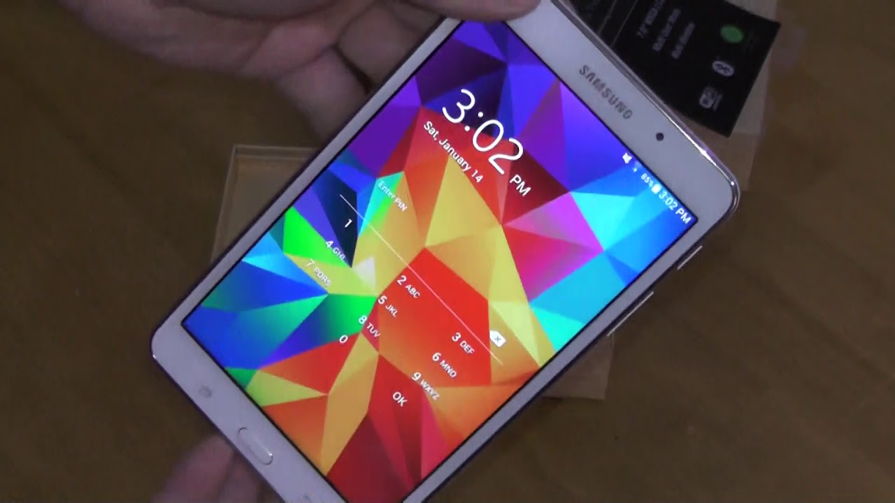 Samsung Galaxy Tab4 Unboxing Review SM T230NU