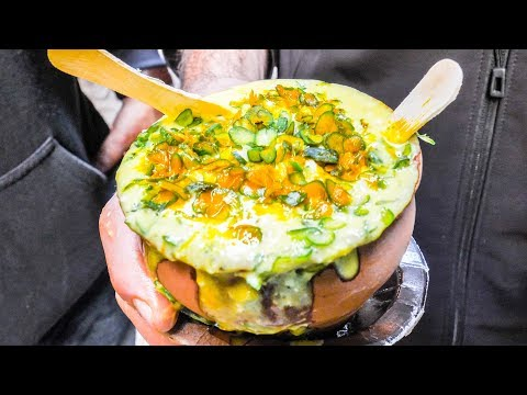 TASTY Indian STREET FOOD Tour DEEP in Varanasi,  INDIA | MESSY + CHEAP CURRY and Vegetarian HEAVEN!