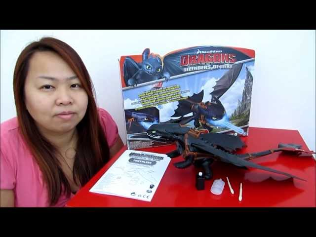 DreamWorks Dragons : Defenders of Berk Giant Firebreathing Toothless Action Figure Review