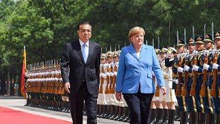 Chinese Premier Li Keqiang meets German Chancellor Angela Merkel in Beijing