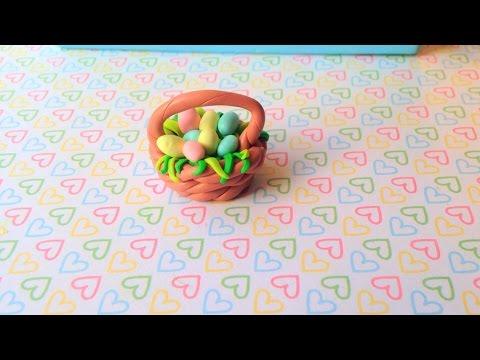Easter Basket (polymer clay) - tutorial - Koszyczek Wielkanocny z modeliny  - YouTube