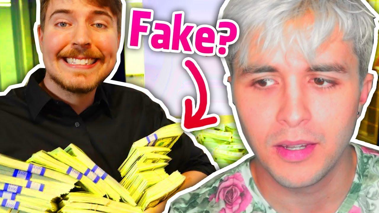 "El YouTuber que ""regala"" 1 MILLÓN de 💲 cada vídeo... es FAKE? 👉 Mr Beast vs Dalas Review"