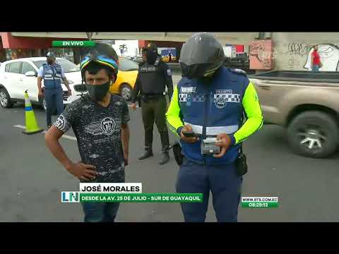 Agentes de la ATM realizan un operativo de control en Guayaquil