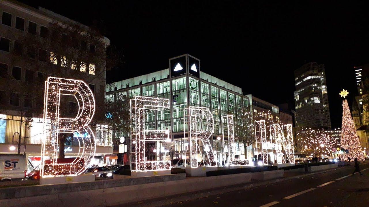 Weihnachtsbeleuchtung Kurfürstendamm.Weihnachtsbeleuchtung Auf Dem Kurfürstendamm 28 11 2018
