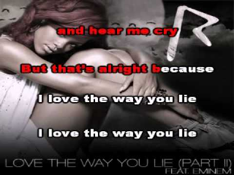 Only Rihanna - Love the way you lie (Piano version) Karaoke/Instrumental