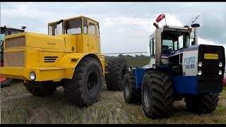 USA vs USSR Tractor pulling. Ford vs Kirovets