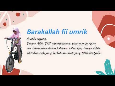 Ucapan Doa Ulang Tahun Anak Perempuan Islami Youtube