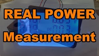 POWER  MONITOR, Measure Real Power with power factor. Using a 100 Amp Power monitor from Banggood
