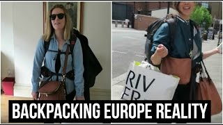 BACKPACKING EUROPE REALITY | TRAVEL VLOG