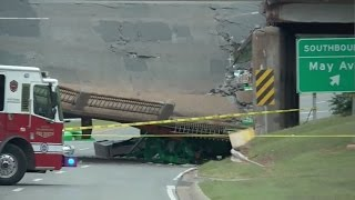 Part of OKC bridge near over Northwest Expressway collapses, as per officials