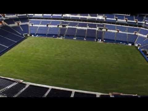 Time-lapse of Lucas Oil Stadium field conversion for Chelsea v. Inter