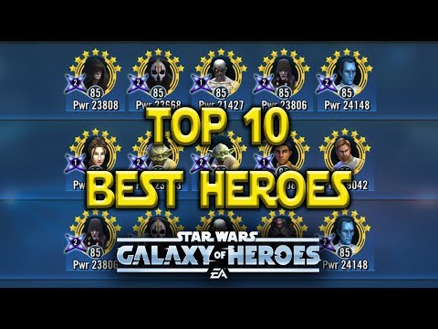 Top 10 Best Characters Sept - Star Wars: Galaxy Of Heroes - SWGOH