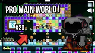 WTF !?!? BUILDING PRO MAIN WORLD SUBSCRIBER USING 20 DLS !! - Growtopia Indonesia
