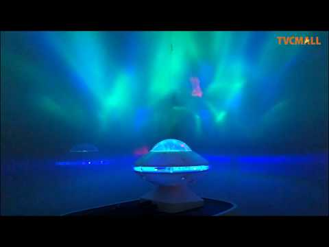 Colorful Night Light Projection Lamp LED Music Speaker on TVC-mall.com