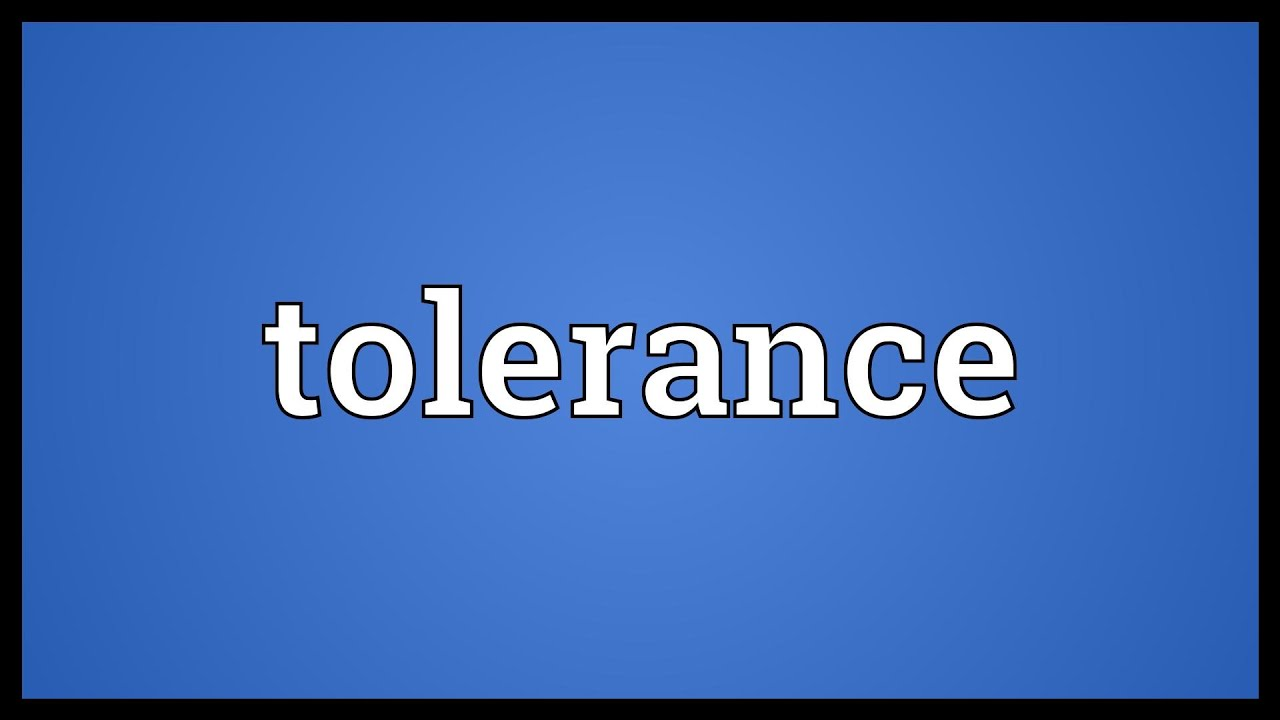 Tolerance Meaning
