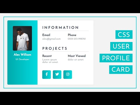 How To Create The User Profile Card Using HTML And CSS