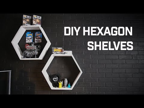 HOW TO // DIY Hexagon Display Shelves