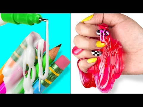 Thumbnail: 1 INGREDIENT SLIME 💦 Testing SCHOOL SUPPLIES Recipes