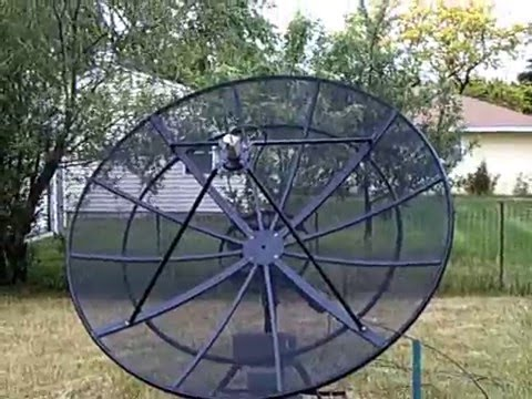 8 c band antenna dish refurbishment youtube