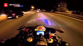 CBR 1000RR - CRAZY DRIVER RIDING  Night