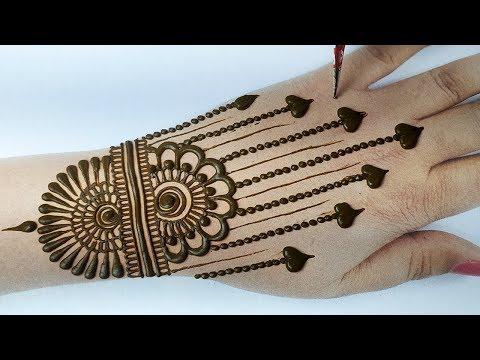 आसान शेडेड मेहँदी डिज़ाइन लगाना सीखे - New Stylish Mehndi Design 2020 for Hands