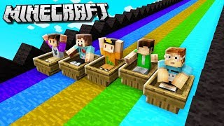 SLIDE DOWN THE LONGEST SLIDE IN MINECRAFT! (The Pals Minecraft)