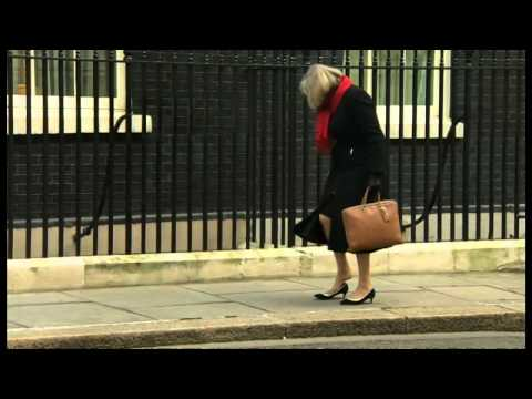 MP Fail: Theresa May gets her heel stuck outside Number 10 Downing Street