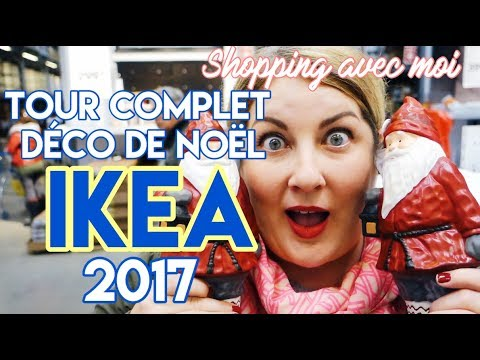 tour complet d co de no l ikea 2017 shopping avec eve store tour d co temps des f tes. Black Bedroom Furniture Sets. Home Design Ideas