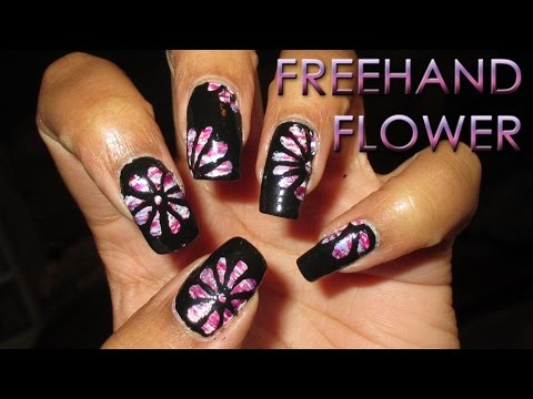 Freehand Flower Overlay | DIY Nail Art Tutorial