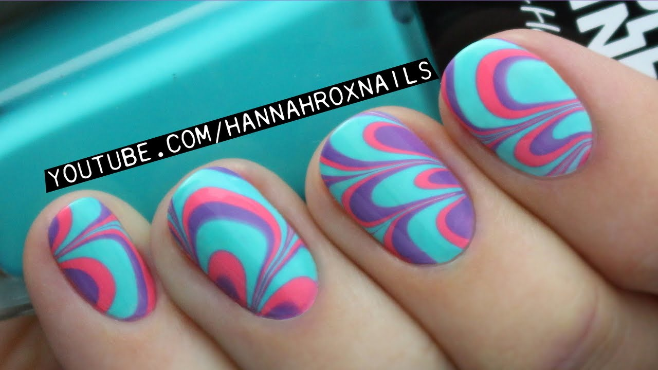 Water Marble Nail Art (Tips & Tricks!) - YouTube