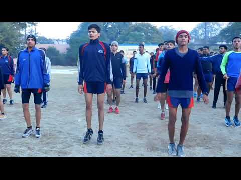 Running and stretching exercises at OP Group after pace running on a usual morning.