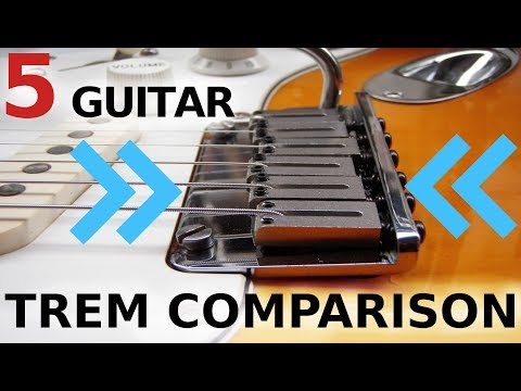 ULTIMATE GUITAR TREM COMPARISON! - 5 guitars, one winner!!