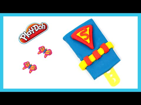 Play Doh Superhero Ice Cream - How to Make Superman Ice Pop