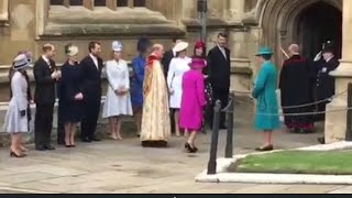 The Queen & British Royal Family Arrive At St George's Chapel For Easter Sunday Service 2018