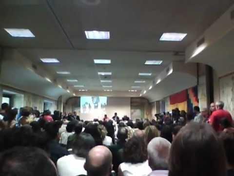Conferenza di Evo Morales in Italia (Roma, Centro Convegni Carte Geografiche, 11-6-12)