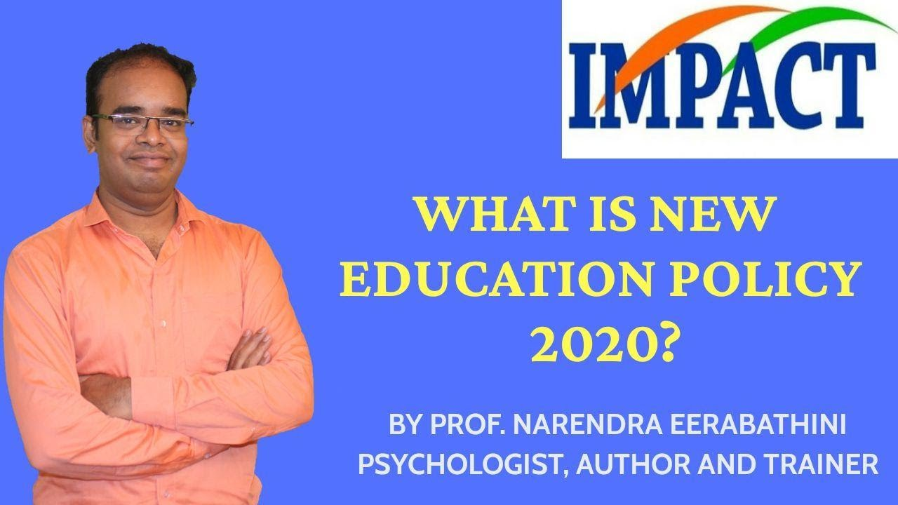 National Education Policy 2020 | Prof Narender | IMPACT | 2020